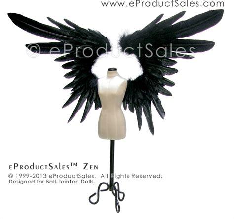 doll wings eproductsales wings black feather zen bjd doll by