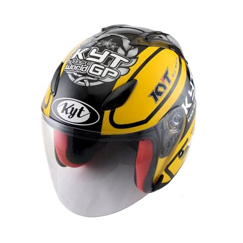 Kyt Dj Maru Motif 12 jual kyt dj maru 11 yellow gunmetal helm half harga kualitas terjamin blibli