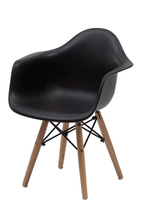 Chair Replica by Replica Charles Eames Armchair Black