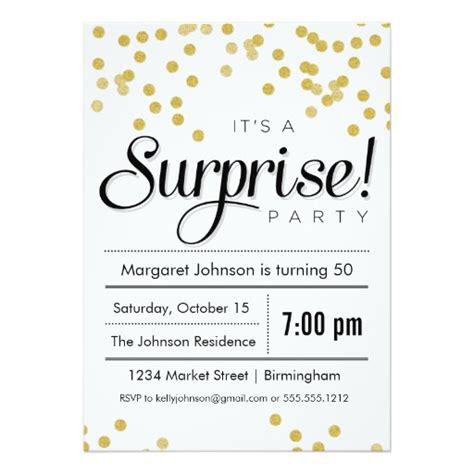 confetti surprise party invitation ladyprints
