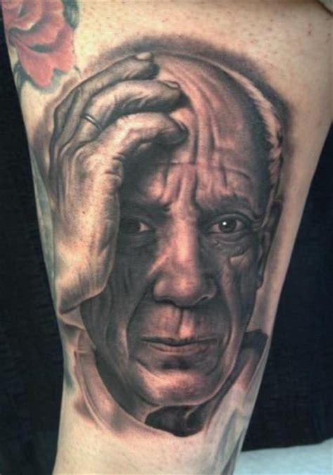 arm portr 228 t realistische picasso tattoo von bob tyrrel