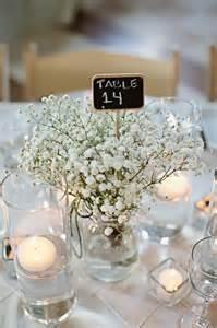 Hurricane Glass Vase Centerpieces Diy Baby S Breath Centerpiece Weddingbee