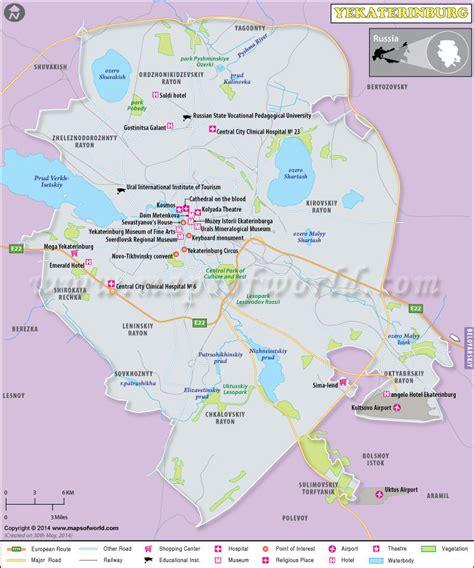 yekaterinburg map yekaterinburg map city map of yekaterinburg russia