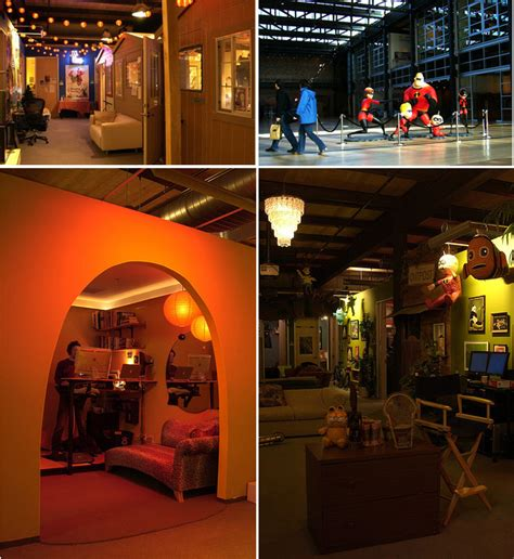 pixar cubicles creative offices amazing workplaces