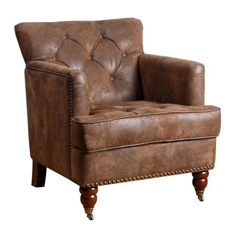Vintage Accent Chair Abbyson Living Misha Tufted Fabric Accent Chair In Antique Brown Br Ac1056 Antbrn