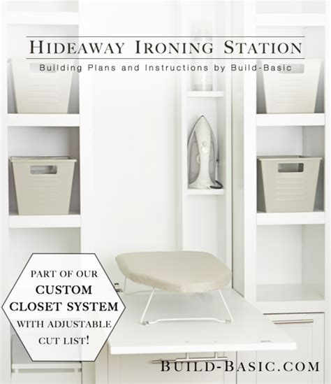 the build basic closet system hideaway ironing station