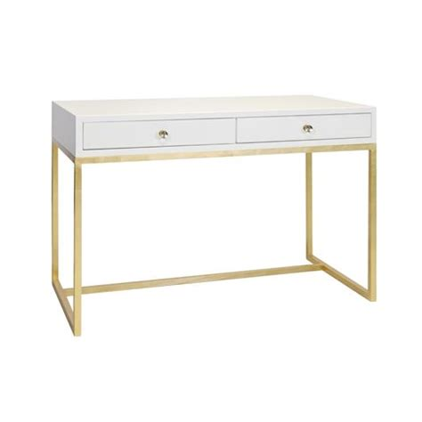 Gold Writing Desk by White Lacquer Writing Desk Table