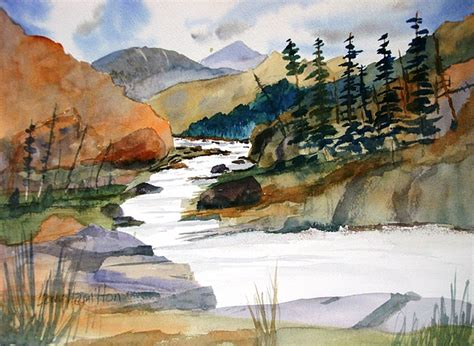 watercolor tutorials larry hamilton montana canyon painting by larry hamilton