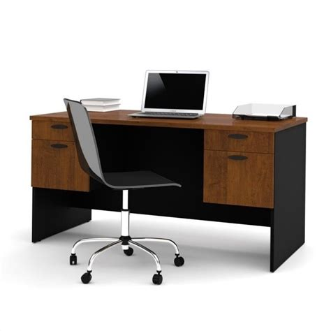 Computer Desk Brown Bestar Hton Home Office Tuscany Brown Black Computer Desk Ebay