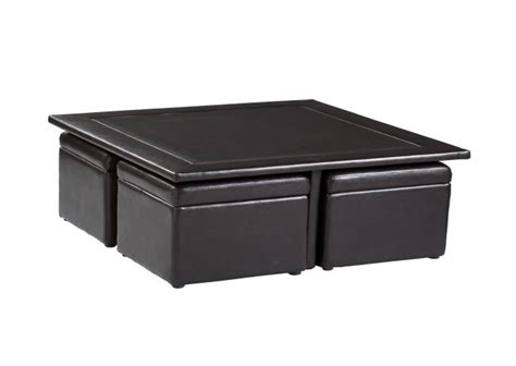 coffee table with storage ottomans black unique coffee