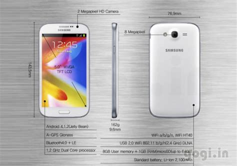 Led Samsung Grand Duos samsung galaxy grand and grand duos 5 inch smartphones