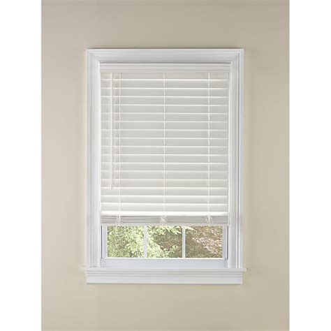 White Blinds Shop Levolor 2 In Cordless White Faux Wood Room Darkening