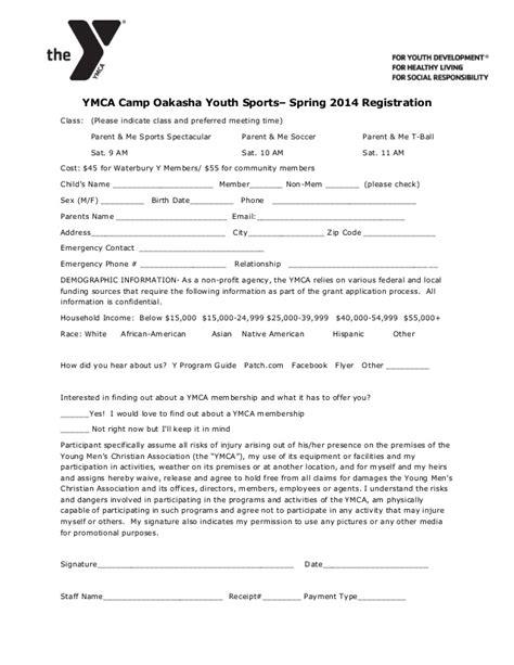 ymca camp oakasha spring parent amp me sports registration form