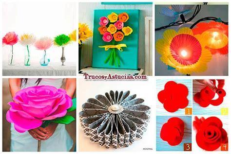 imagenes de flores reciclables 15 flores que puedes hacer con manualidades trucos y
