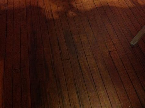 Plywood floor. We stained a subfloor with cherry stain and