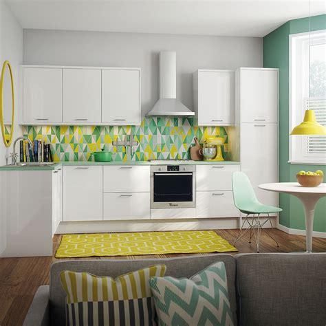 Shiny White Kitchen Cabinets strata gloss white kitchen style kitchens magnet trade
