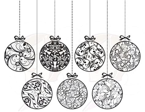 16 christmas clip art black and white merry christmas