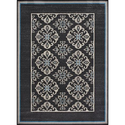 Hton Bay Outdoor Rugs Hton Bay Trellis Reversible Cape Cod Blue 7 Ft 5 In X 10 Ft 8 In Indoor Outdoor Area Rug