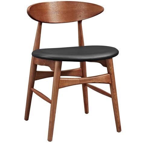 Black Walnut Dining Chairs Modway Ebee Walnut Black Dining Chair Eei 2280 Wal Blk The Home Depot