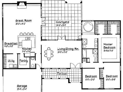unique one story house plans single story modern house designs unique single story home