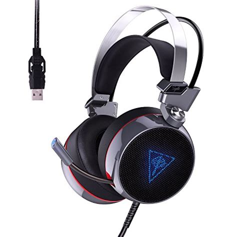 Aukey Bass Gaming Headset Gh S1 aukey gaming headset usb stereo ear headphones supports 7 1 channel surround sound