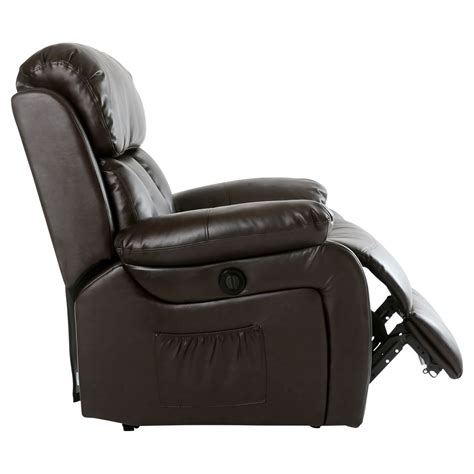leather massage recliner chairs chester electric heated leather massage recliner chair