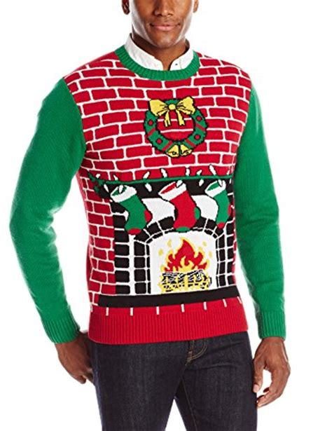 the ugly christmas sweater kit men s fireplace is lit