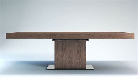 contemporary table astor extendable modern dining table
