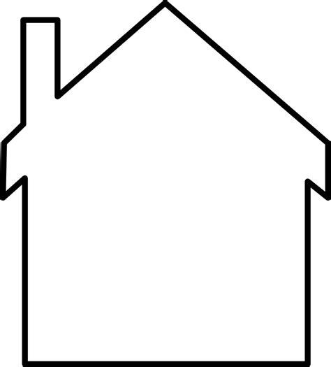 house outline onlinelabels clip art house silhouette