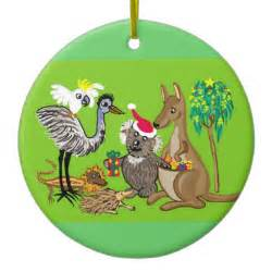 santa in australia christmas tree ornaments zazzle