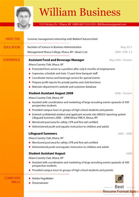 up to date resume format 2016 best resume format cv 2016