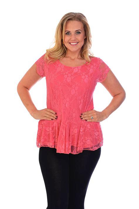Bigsize Plussize Blouse new womens lace top plus size lined peplum style