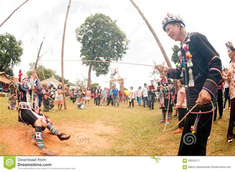 swing festival the akha swing festival editorial photography image