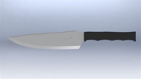 tactical kitchen knives tactical kitchen chefs knife free 3d model stl cgtrader