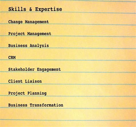 best management skills list experience resumes