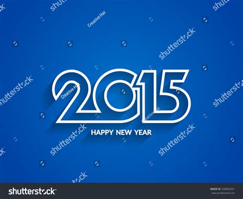 new blue color blue color elegant happy new year 2015 background design