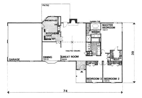 Garagen Design 1690 by Ranch Style House Plan 3 Beds 2 00 Baths 1690 Sq Ft Plan