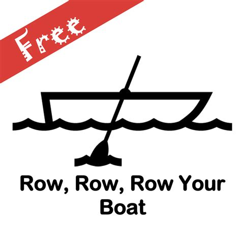row row your boat song lyrics row row row your boat free songsheet singing hands