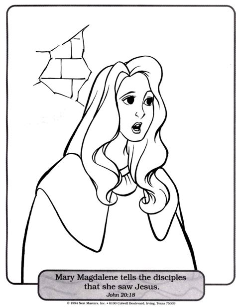 jesus christ and mary magdalene coloring page pages pictures