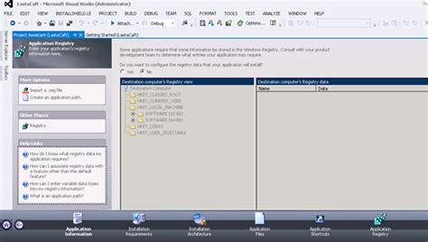 visual studio installshield tutorial how to create a setup file in visual studio using
