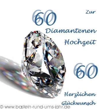 Diamantene Hochzeit by Basteln Rund Ums Jahr Vorlage Karte Zur Diamantenen