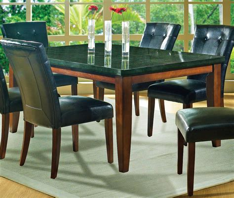 black granite top kitchen table beautiful granite dining table set homesfeed