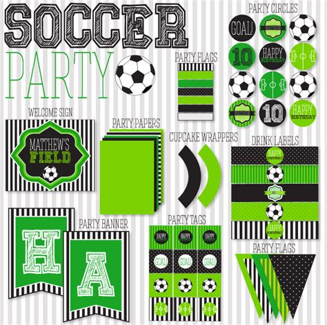 Free Printable Soccer Party Decorations | score soccer party printables b lovely events