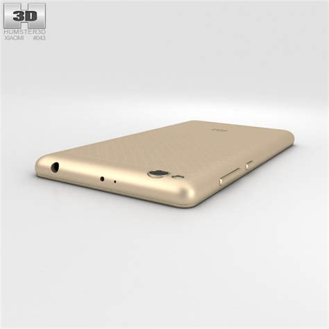 Xiaomi Redmi 3 Gold xiaomi redmi 3 gold 3d model hum3d