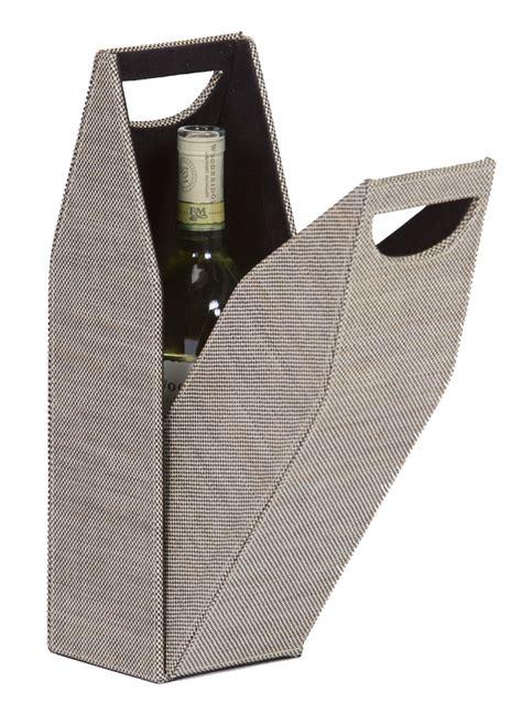 Single Bottle Wine Box; Tweed
