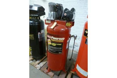coleman powermate vertical air compressor 6 5 hp 60 gal tank 140 max psi