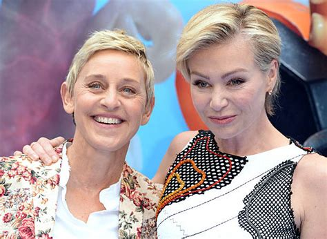 degeneres and portia de up degeneres pushed portia de to quit acting