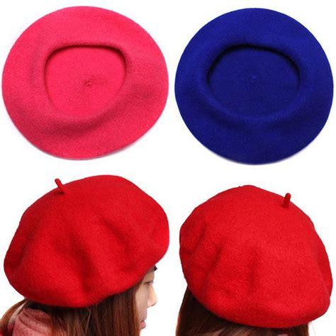 artist hat pattern women s autumn winter soft warm wool classic berets felt