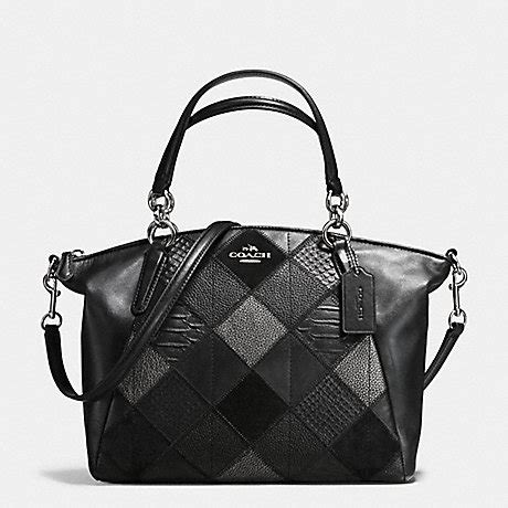 Coach Kelsey Small Gunmetal Original coach f56848 small kelsey satchel in metallic patchwork