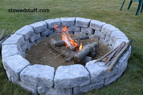 how to make a firepit how to build a pit stowed stuff